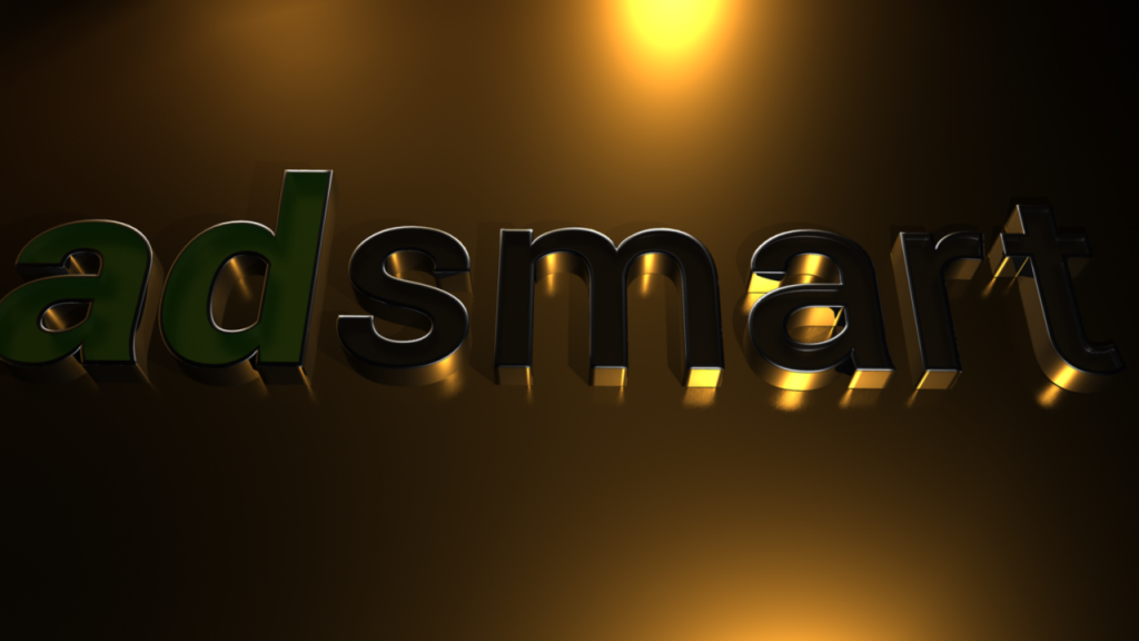 Adsmart 3d Logo Gold Chrome